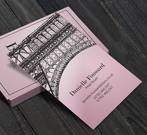 350gsm pimlico petal pink business cards reheart Gallery